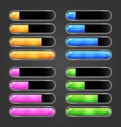 Set of bar downloader-3 vector