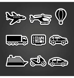 Set stickers transport vector