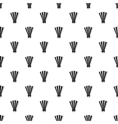 Shuttlecock pattern simple style vector image