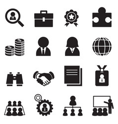 Silhouette job icon set vector