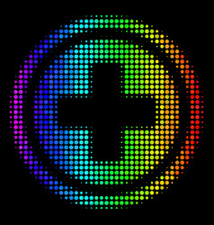 Spectral colored pixel pharmacy icon vector