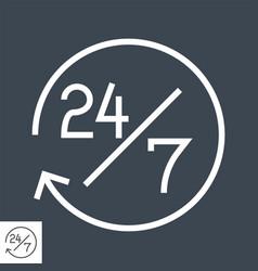 Steady services 24 7 icon vector