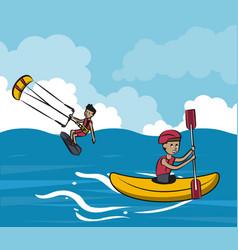 Summer water sport concept vector