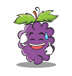 Sweat smile grape character cartoon collection vector