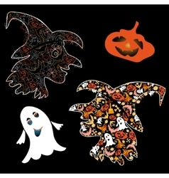 Symbols of Halloween vector