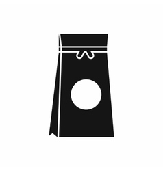 Tea packed in a paper bag icon simple style vector