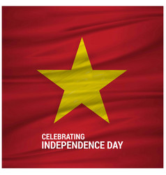 vietnam waving flag celebtraing independence day vector image