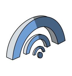 Wifi zone 3d vector