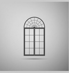 window icon isolated on grey background vector image