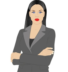 Woman in jacket vector