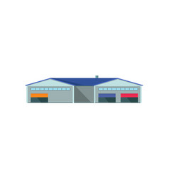 worldwide warehouse deliver storehouse building vector image
