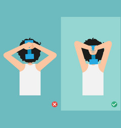 wrong and right lifting weight posture vector image