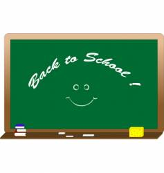 blackboard with text vector image vector image