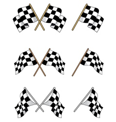 Set of racing checkered flags vector image vector image