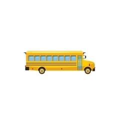 Yellow school bus icon cartoon style vector image