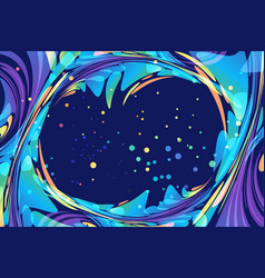 abstract night background with frame poster vector image