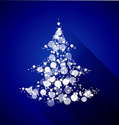 Christmas tree made of light particles Flat design vector image