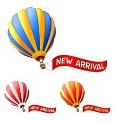 hot air balloon vector image vector image