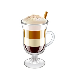 Latte layered coffee drink isolated vector image vector image