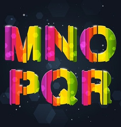 Abstract Rainbow Font M-R vector image