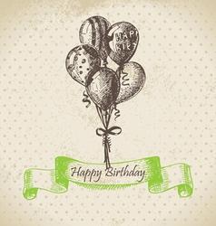 Balloons Happy Birthday hand drawn vector image vector image