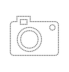 digital camera sign black dashed icon on vector image