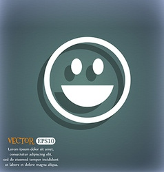 funny Face icon symbol on the blue-green abstract vector image