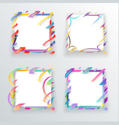 paper abstract frame flyer geometric background vector image vector image