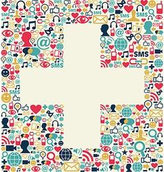 Social media plus sign texture vector image vector image