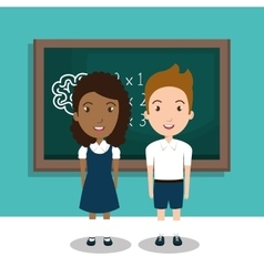 students in the class room vector image