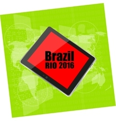 Brazil Rio 2016 Summer Games Digital vector image vector image