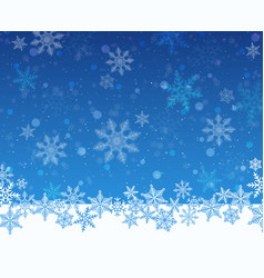 christmas snowy blue background vector image vector image