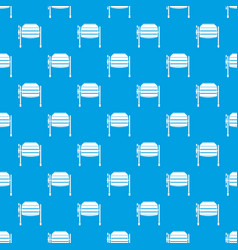 concrete mixer pattern seamless blue vector image vector image