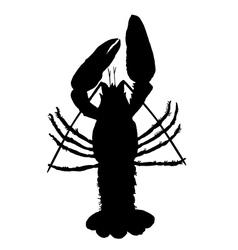 Crawfish silhouette vector