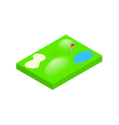 Golf course isometric 3d icon vector image vector image