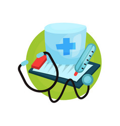 medicine icon medical equipment cartoon vector image vector image