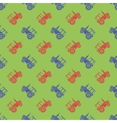 Tractor Icon Seamless Pattern vector image