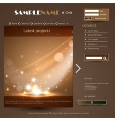 Web Design Frame vector image
