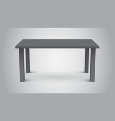 3d table for object presentation empty dark top vector