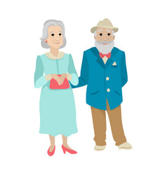 A married couple old grandparents vector
