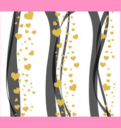 abstract background with black curve line and gold vector image