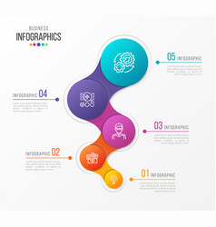Abstract infographic design 5 steps vector