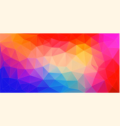 Abstract mosaic background colourful triangles vector