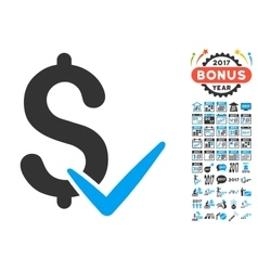 Accept Money Icon With 2017 Year Bonus Symbols vector