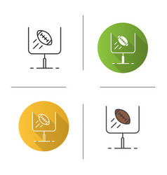 American football or rugby goal icon vector