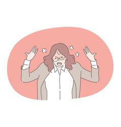 Anger mental stress business concept vector