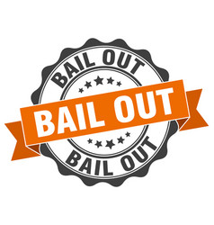 Bail out stamp sign seal vector