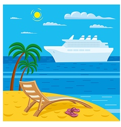 beach relax vector image