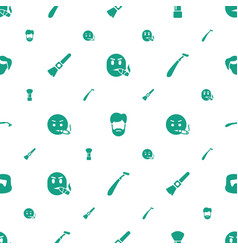 Beard icons pattern seamless white background vector
