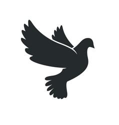 beautiful peace dove outline vector image